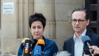 Bundesjustizminister bei Heidenauer Schülern