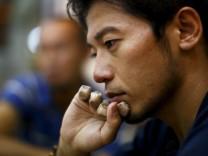 File photo of Japanese climber Nobukazu Kuriki speaking during an interview in Kathmandu