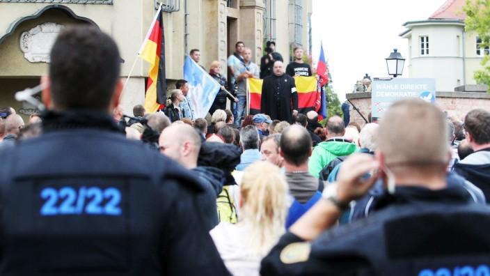 Rechter Aufmarsch in Heidenau