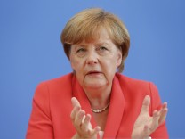 German Chancellor Merkel addresses an annual news conference in Berlin