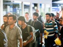Ankuft Flüchtlinge am HBF München