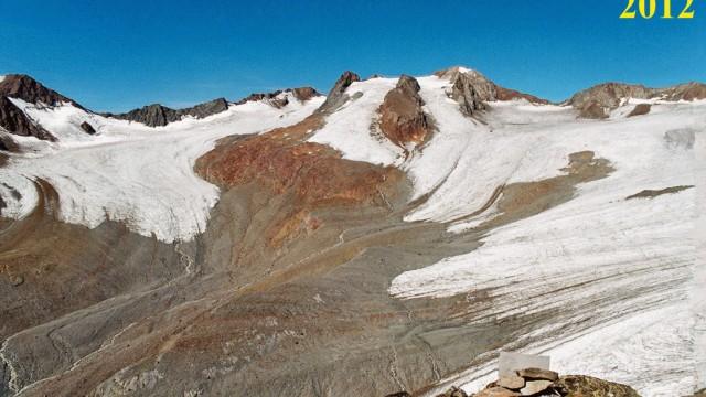 Gletscherschwund am Vernagtferner
