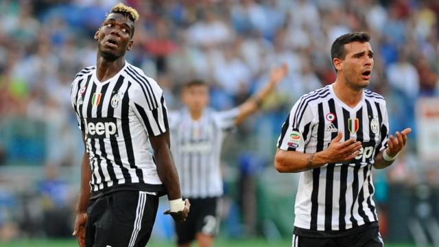 IPP20150830 Football soccer Serie A AS Rom Juventus Turin la delusione di Pogba e Sturaro H