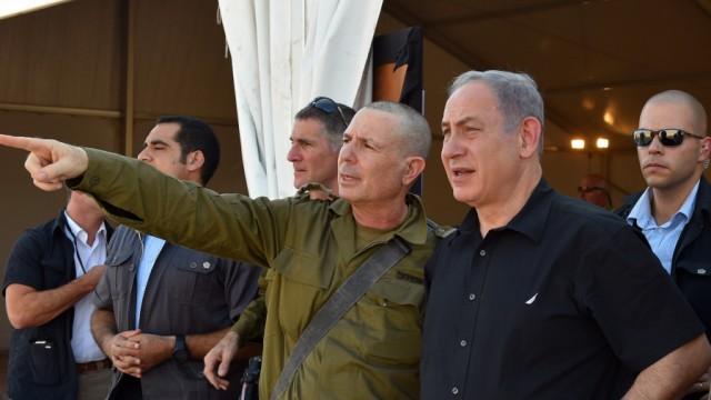 Netanjahu und Jaalon an der Grenze zu Jordanien