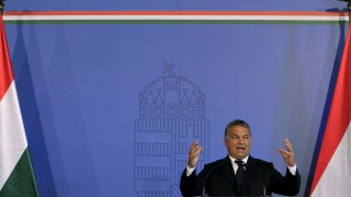 Hungarian Prime Minister Orban delivers a speech in Budapest