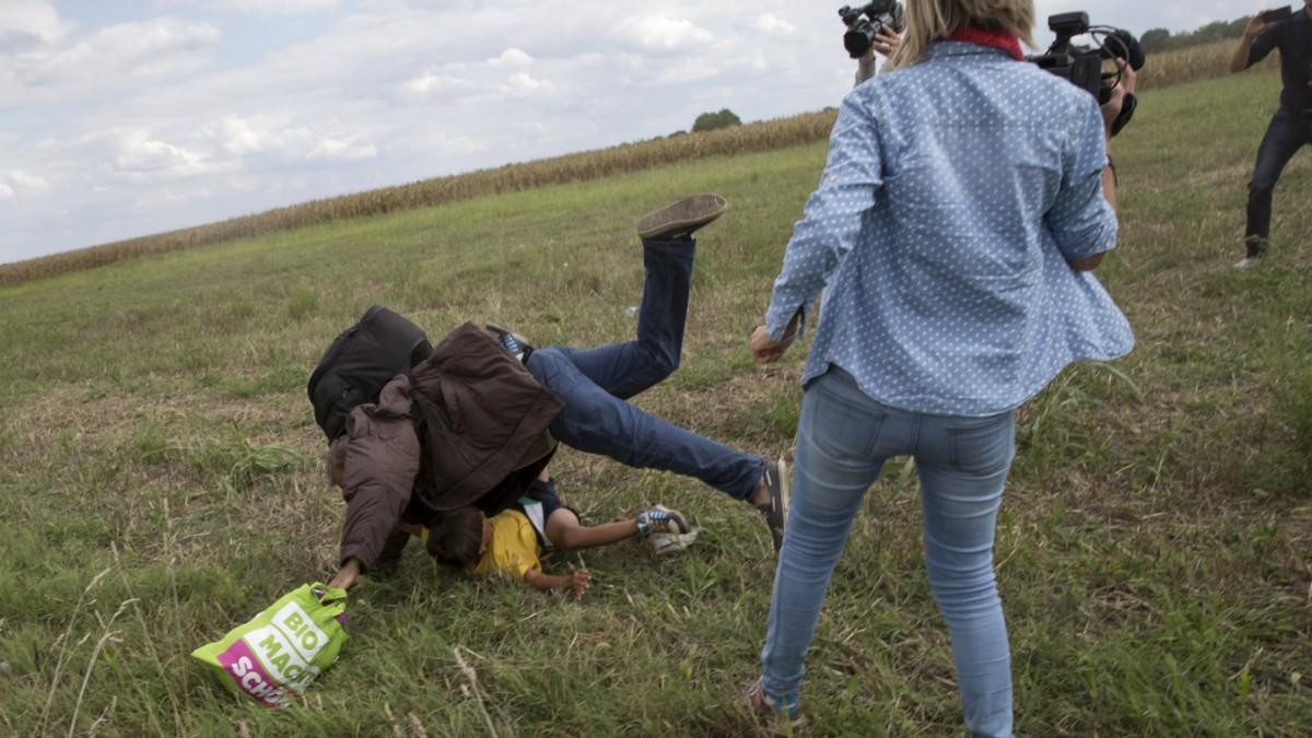Ungarische Journalistin tritt nach Flüchtlingen