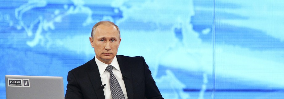 Putin takes part in a live broadcast call-in in Moscow