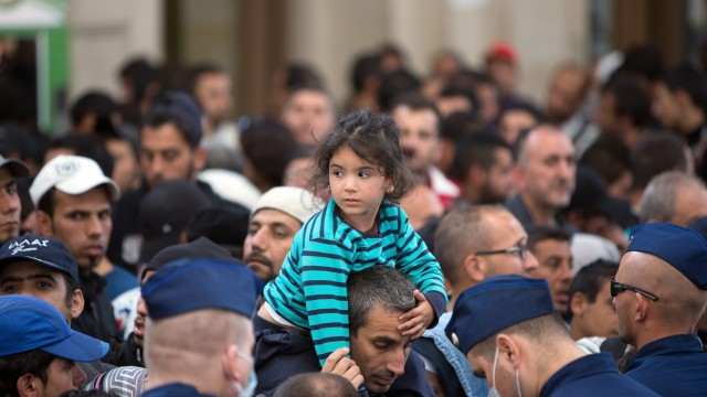 Fluechtlinge in Budapest