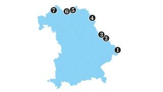 Bayern Karte