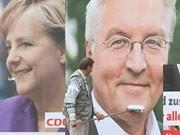 Wahlkampf, SPD, CDU, Steinmeier, Merkel, Getty