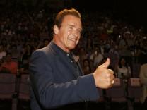 """Arnold Schwarzenegger beim """"Terminator Genisys""""-Event in Shanghai, 2015"""