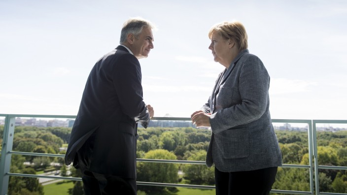 German Chancellor Angela Meets With Werner Faymann