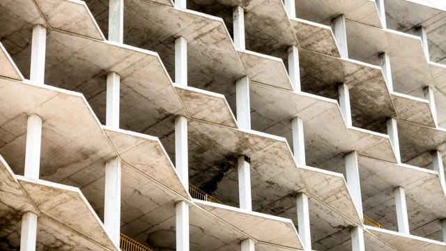 Baustelle für Wohnhochhäuser in München, 2015