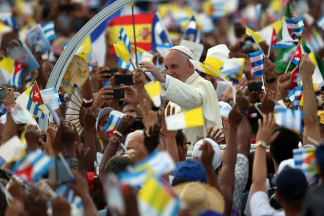 *** BESTPIX *** Pope Francis Makes Historic Trip To Cuba