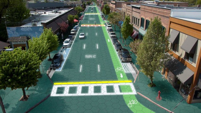 Straßenbau Revolutionäres Straßenbau-Konzept