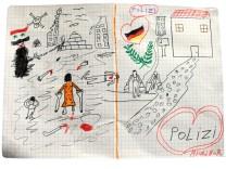 Syrisches Flüchtlingskind malt Bild
