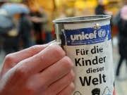 Unicef Spendenbüchse, ddp