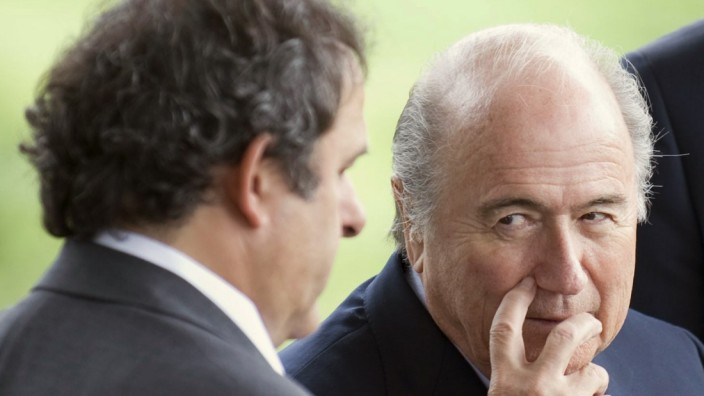 Michel Platini, Josef Blatter