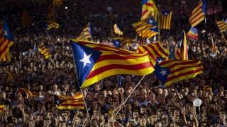 Befürworter der Unabhängigkeit Kataloniens vor den Regionalwahlen im September 2015