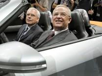 Martin Winterkorn und Ulrich Hackenberg bei VW