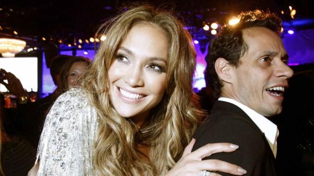 Jennifer Lopez mit ihrem damaligen Ehemann Marc Anthony im Jahr 2010 in Los Angeles.