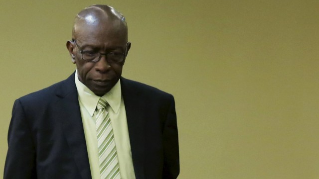 File photo of former FIFA vice-president Warner inside parliament in Port-of-Spain