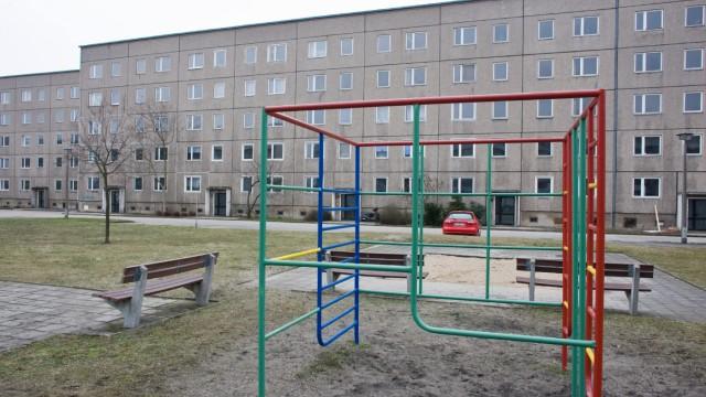 Verlassene Plattenbauten in Eisenhüttenstadt