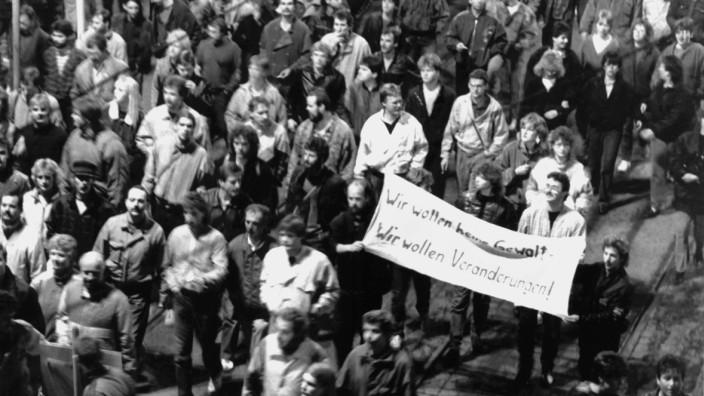 Leipziger Montagsdemonstration vor 20 Jahren