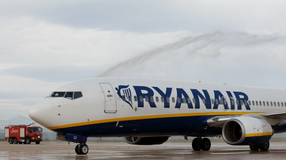 First Ryanair Flight Arrives At Castellon Airport