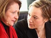 Justizministerin Leutheusser-Schnarrenberger, Familienministerin Kristina Schröder, Getty