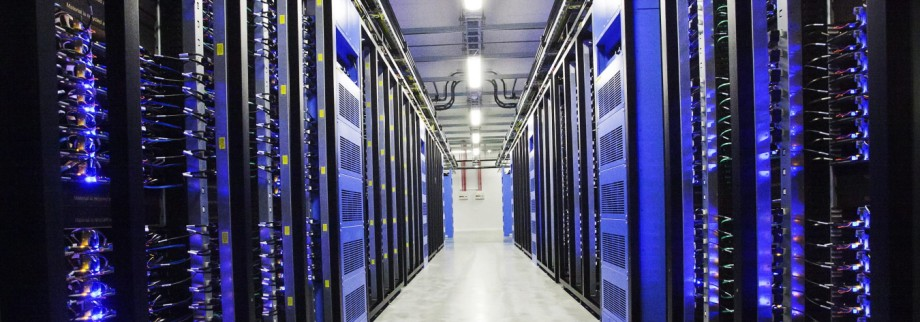 A view of the interiors of Facebook's new server hall in Lulea