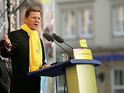 Guido Westerwelle, dpa, Steuersenkungen, versprechen, Kirchhof, Kister