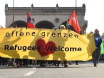 Demonstration zum Thema 'Offene Grenzen'