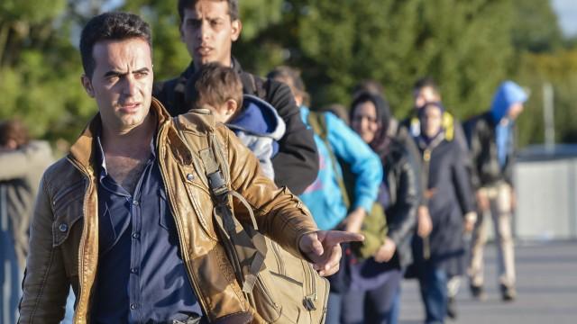 Flüchtlinge in Bayern Flüchtlingskrise