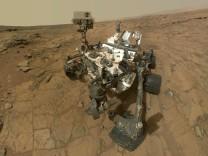 Das Marsfahrzeug Curiosity.