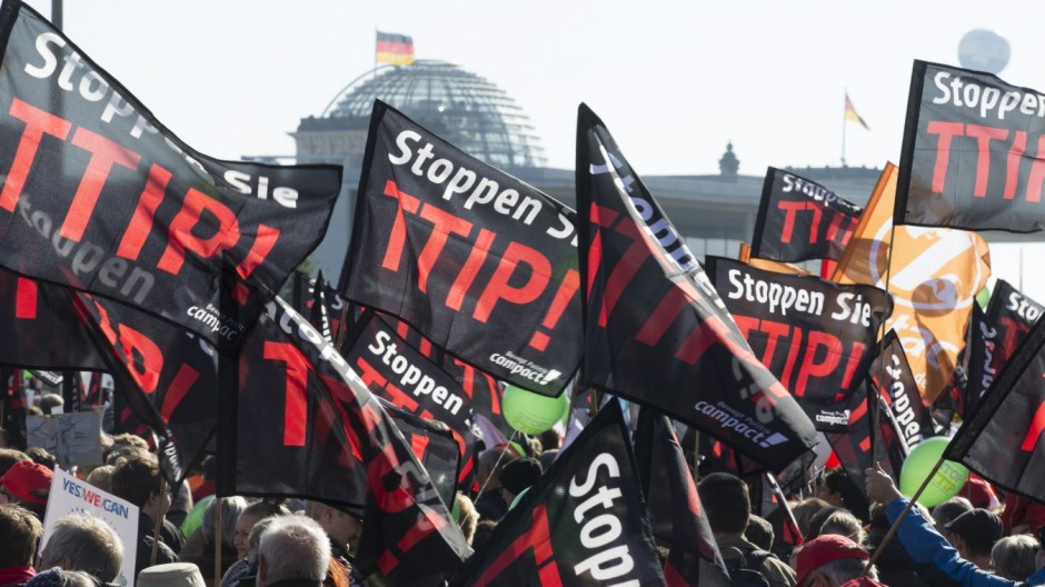 Thousands Protest TTIP And CETA Trade Accords