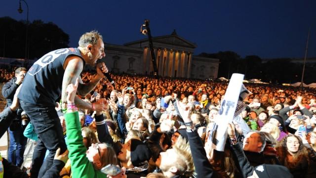 Flüchtlinge in München Danke-Konzert in München