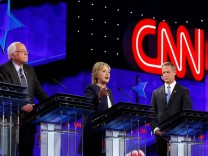 Democratic U.S. presidential candidates attend the first official Democratic candidates debate of the 2016 presidential campaign in Las Vegas