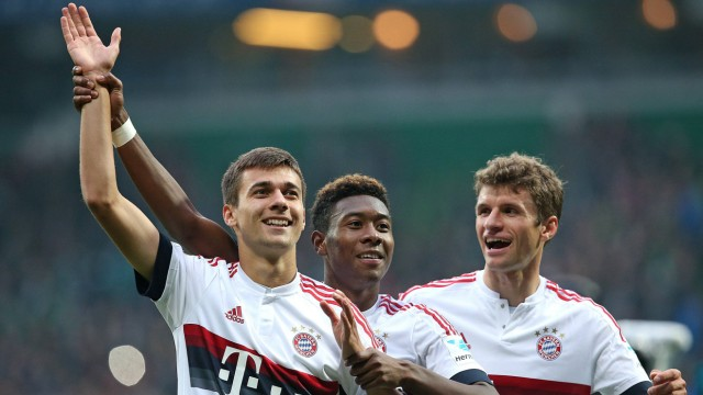 17 10 2015 Fussball 1 Bundesliga 2015 2016 9 Spieltag SV Werder Bremen FC Bayern München im We; Pantovic