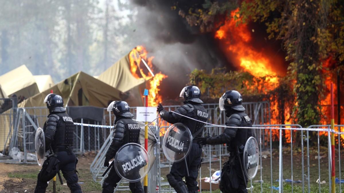 Zelte in slowenischem Auffanglager abgebrannt