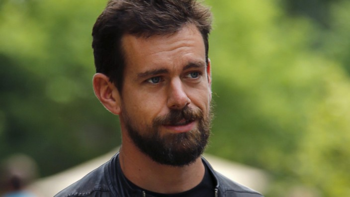 Dorsey, interim CEO of Twitter and CEO of Square, goes for a walk on the first day of the annual Allen and Co. media conference in Sun Valley in this file photo