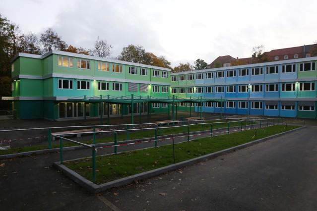 Container-Ausweichanlage des Wilhelmsgymnasiums in München, 2015