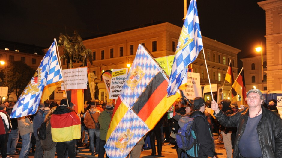 Pegida Demonstration in München, 2015