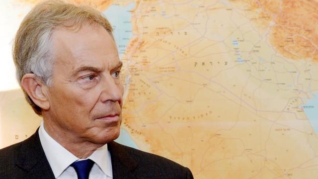 Tony Blair meets with Israeli Prime Minister Benjamin Netanyahu