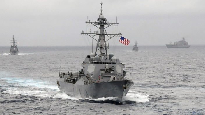 File photo of the US Navy guided-missile destroyer USS Lassen underway in the Pacific Ocean