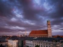 Abendlicht über München
