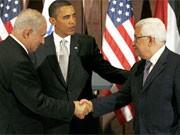 Obama, Netanjahu, Abbas, dpa
