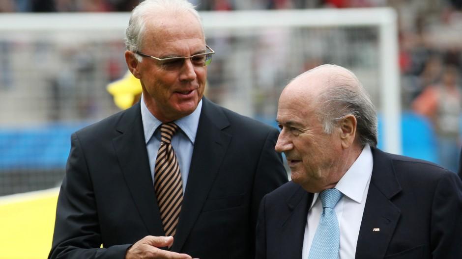 Franz Beckenbauer und Joseph Blatter