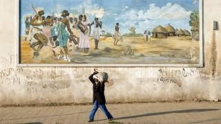 mural in asmara street eritrea