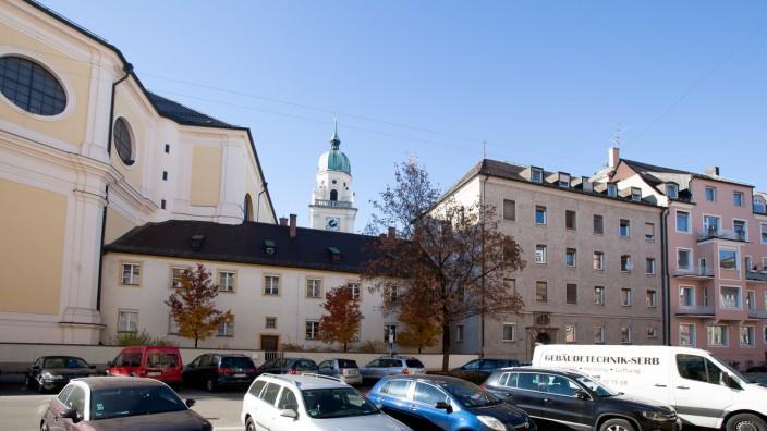 Kapuzinerkloster Tengstraße 7, das graue Gebäude
